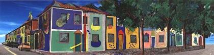 Cristóbal Gabarrón - Barrio del Color II - 420 W