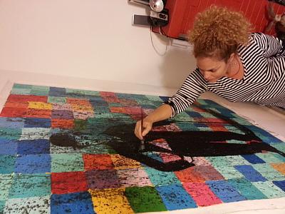 Astrid A - Chaplin sobre lienzo - taller 300 X 400