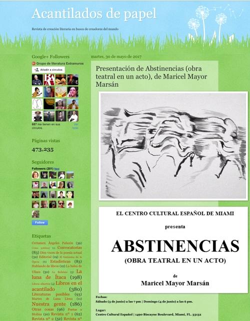 Abstinencias - Acantilados de Papel 500 X 641
