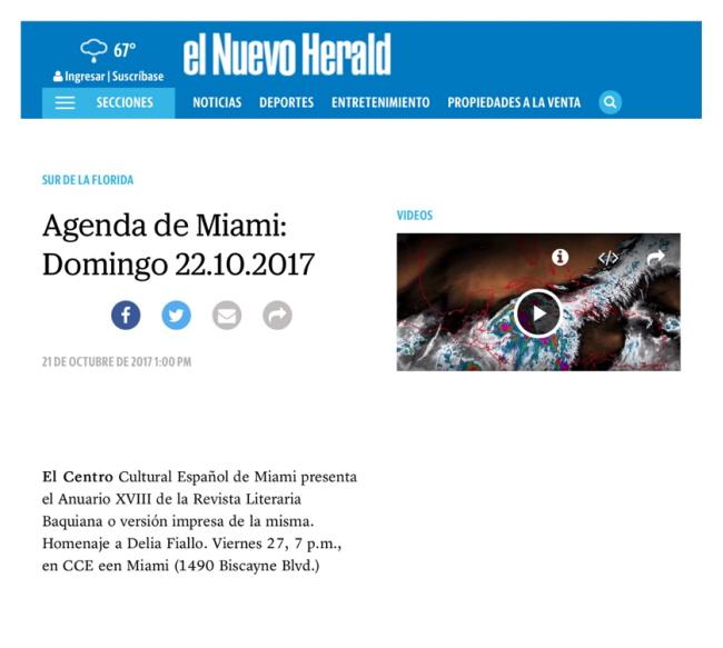 Agenda - El Nuevo Herald 650X583