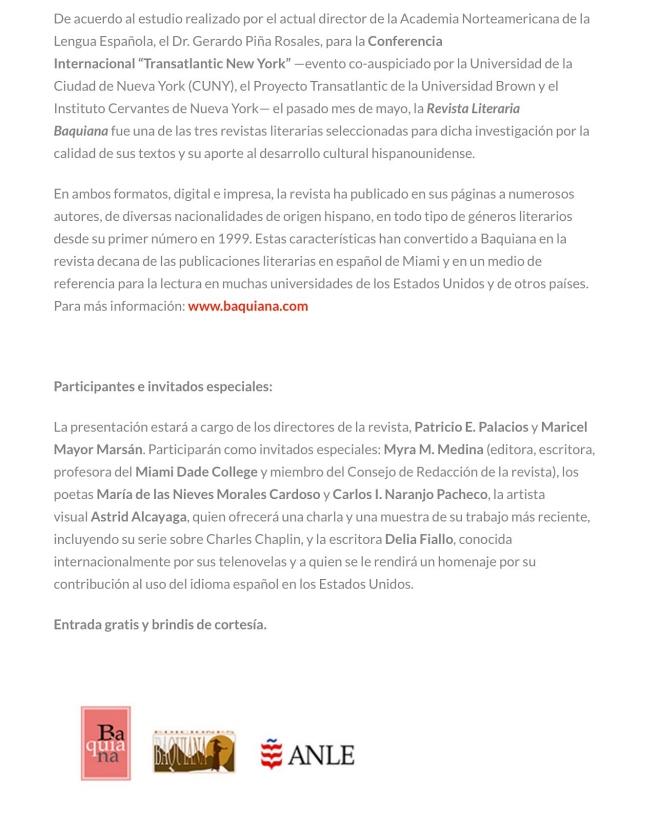 Invitacion del CCE - Baquiana 2017 650X816