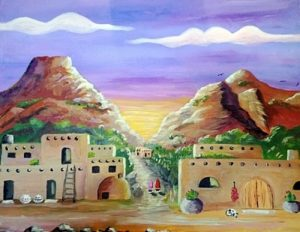 Evening at the pueblo 309 X 400