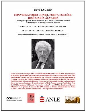 José María Álvarez - CCE Miami - Invitación 300 X 389