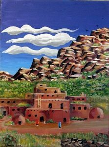 Pueblo at Dusk 223 X 300
