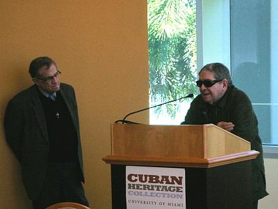 José Triana y Matías Montes en el Congreso de Teatro