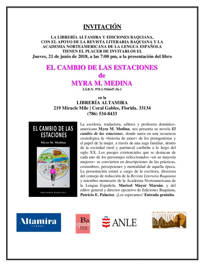 INVITACIÓN - EL CAMBIO DE LAS ESTACIONES 700 X 912