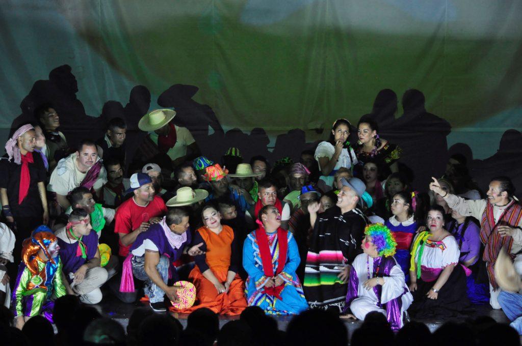 17 de diciembre de 2018 En el reclusorio oriente, se presentó la Pastorela por parte de la compañia teatral Un Grito de Libertad dirigida por Arturo Morell. Fotografía: Alejandra Méndez