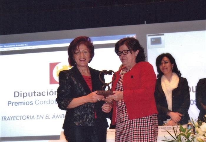 Entrega del Premio Igualdad, por Mª Dolores Sánchez - Cordoba - 700 X 484