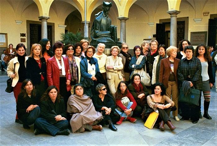Juana Castro en el VII Encuentro Poetas Granada nov 2002