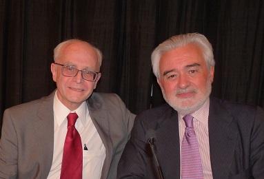 Con el exdirector de la RAE Darío Villanueva - Instituto Cervantes en N.Y. 383 X 260